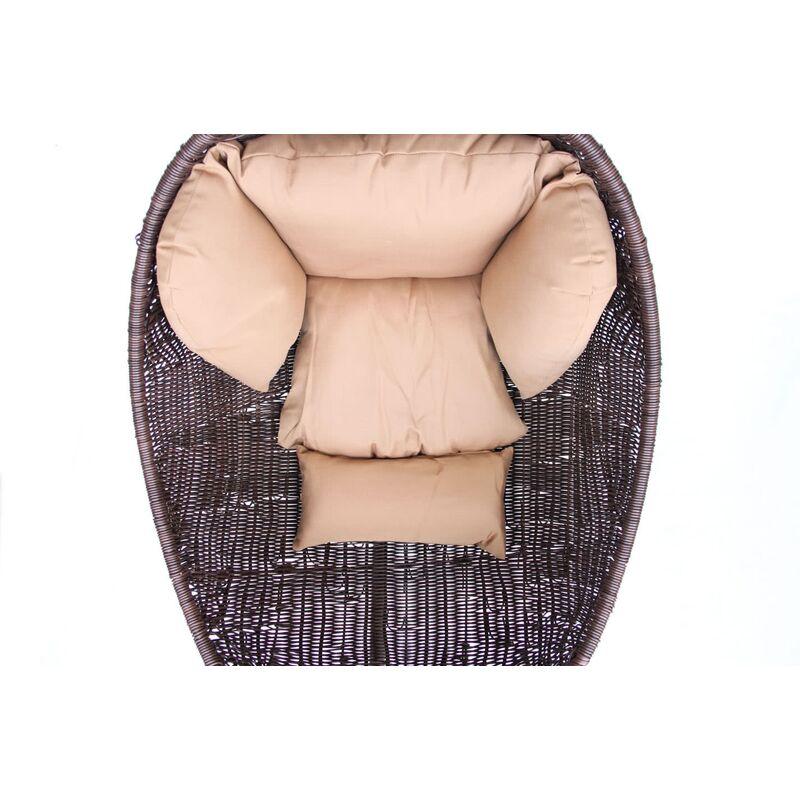 Плетеное подвесное кресло Derong KM 1015 Фото 3