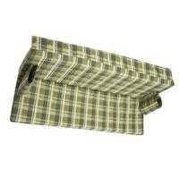 Матрас для садовых качелей зеленая клетка 170-180 см