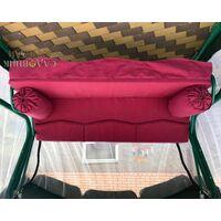 Матрас Волна бордовый с валиками 200 см