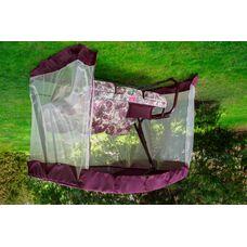 Садовые качели Турин премиум (Мариан) бордовые (арт. с803)