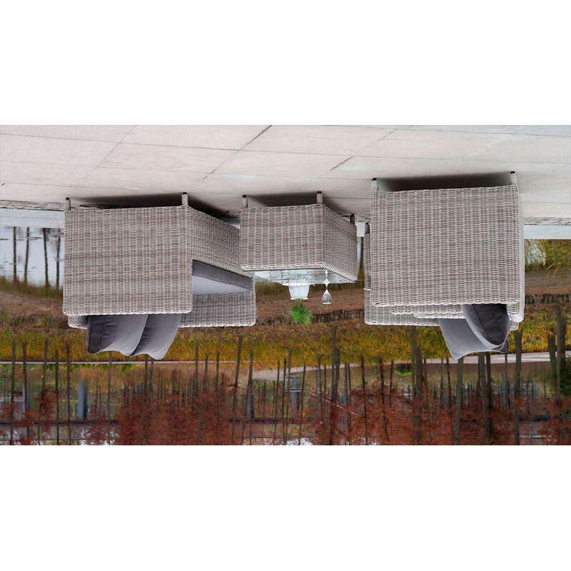 Комплект Макиато Бьянко из искусственного ротанга Фото 2