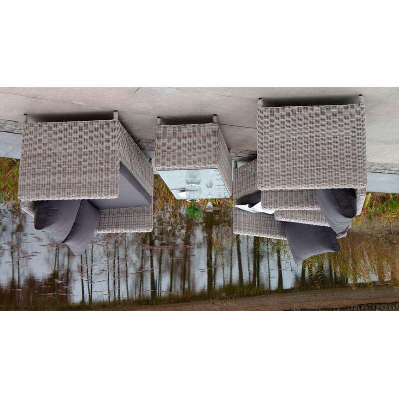 Комплект Макиато Бьянко из искусственного ротанга Фото 5