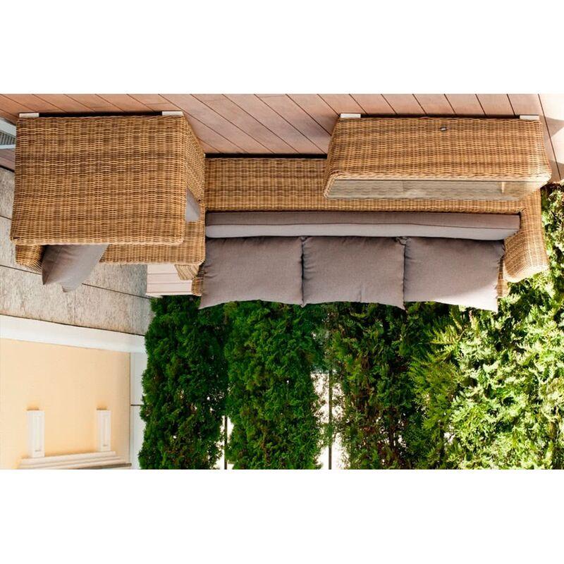 Трехместный диван Капучино из ротанга Фото 4
