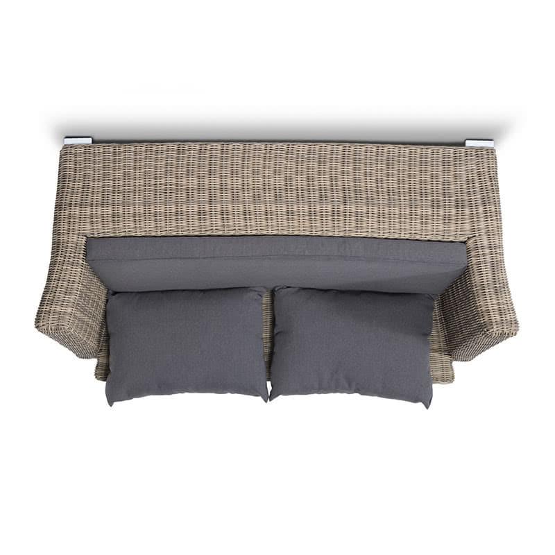 Двухместный диван Капучино из ротанга Фото 2