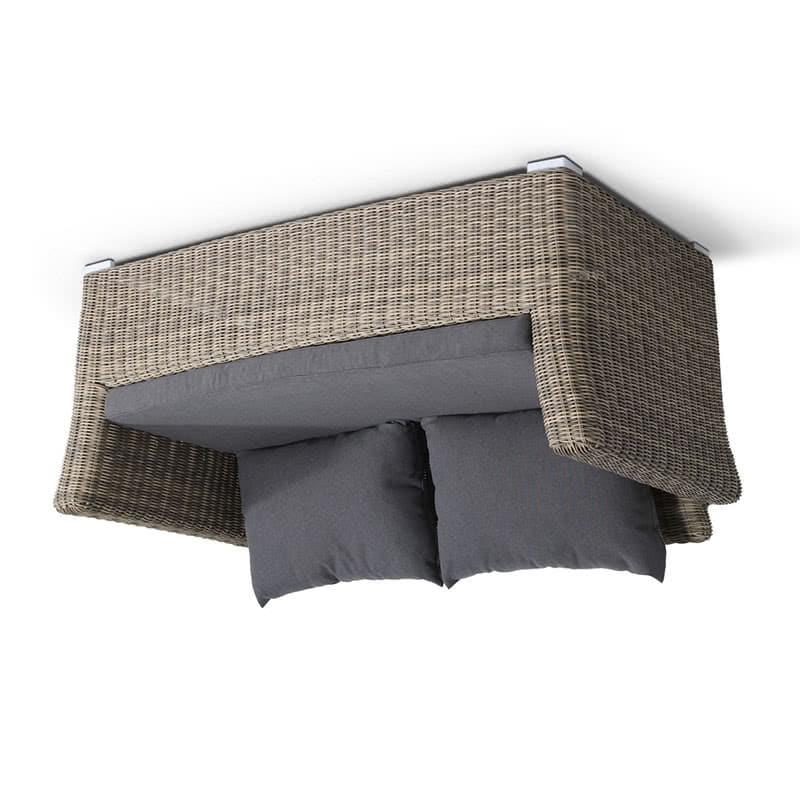 Двухместный диван Капучино из ротанга Фото 3