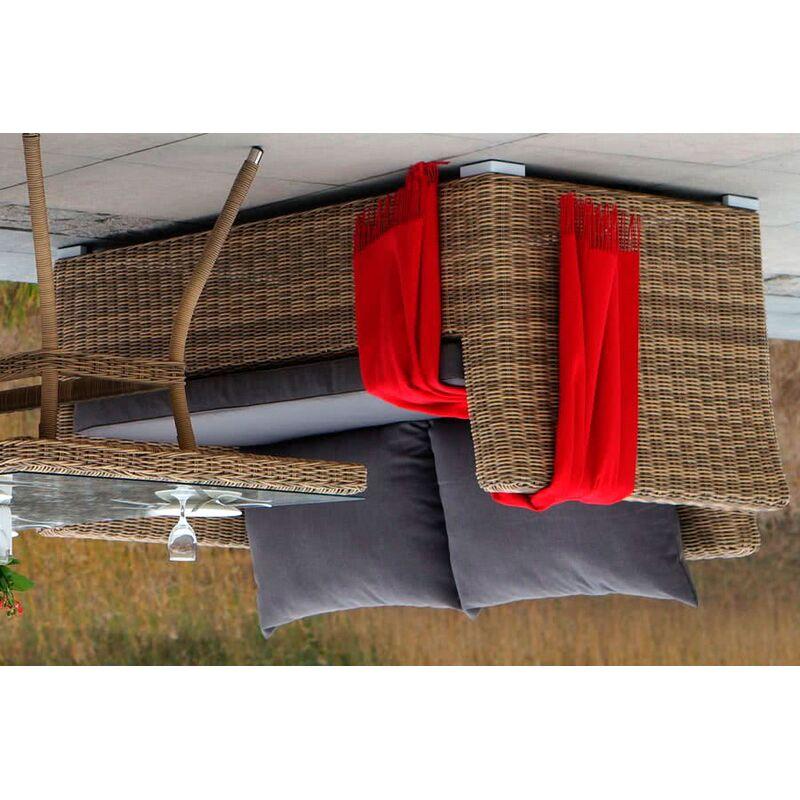 Двухместный диван Капучино из ротанга Фото 4