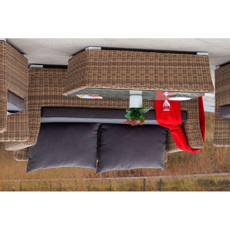 Двухместный диван Капучино из ротанга Фото 5