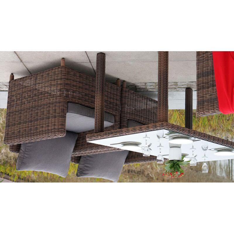 Обеденный стол Макиато из ротанга Фото 2