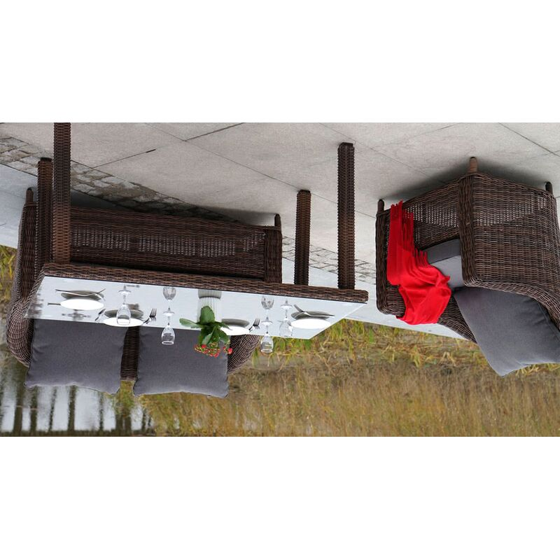 Обеденная группа Кон Панна из ротанга Фото 4