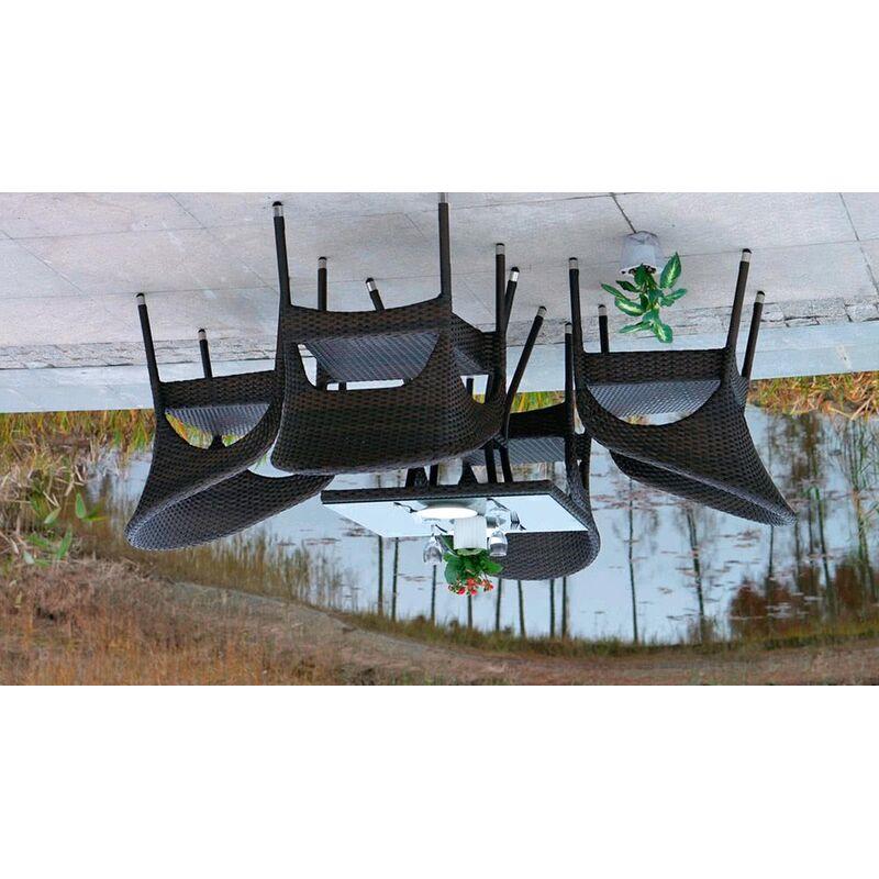 Стул Корретто с подушечкой из искусственного ротанга Фото 4