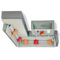 Комплект мебели для отдыха Мерибель угловой серый