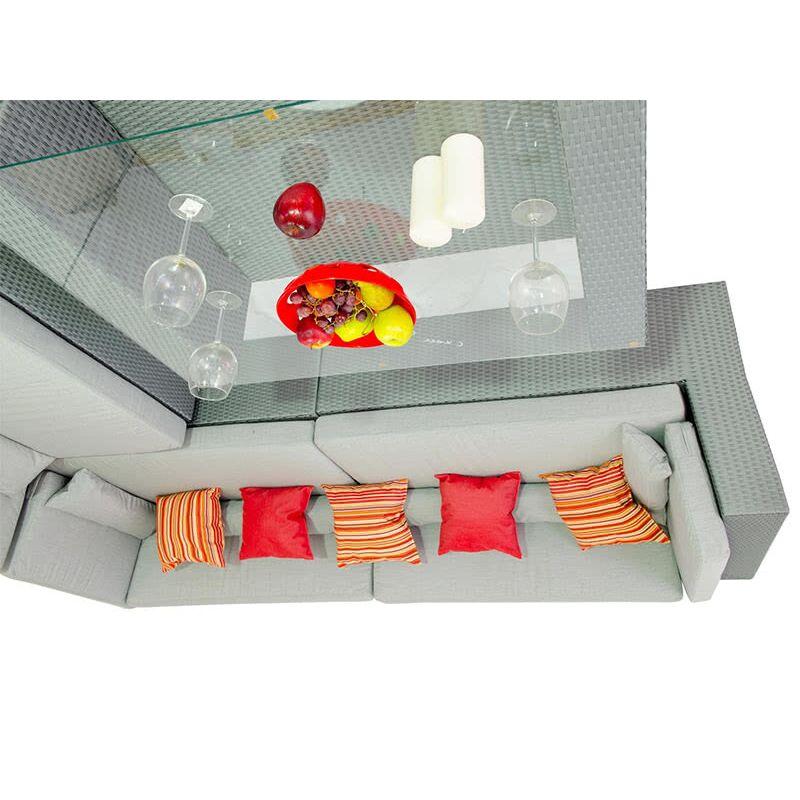 Комплект мебели для отдыха Мерибель угловой серый Фото 3