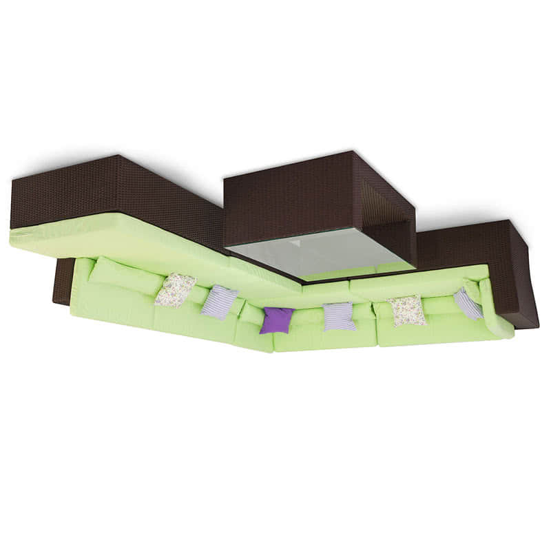 Комплект мебели для отдыха Мерибель угловой шоколад Фото 2