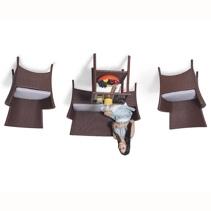 Комплект мебели для отдыха Капри кирпичный Фото 2