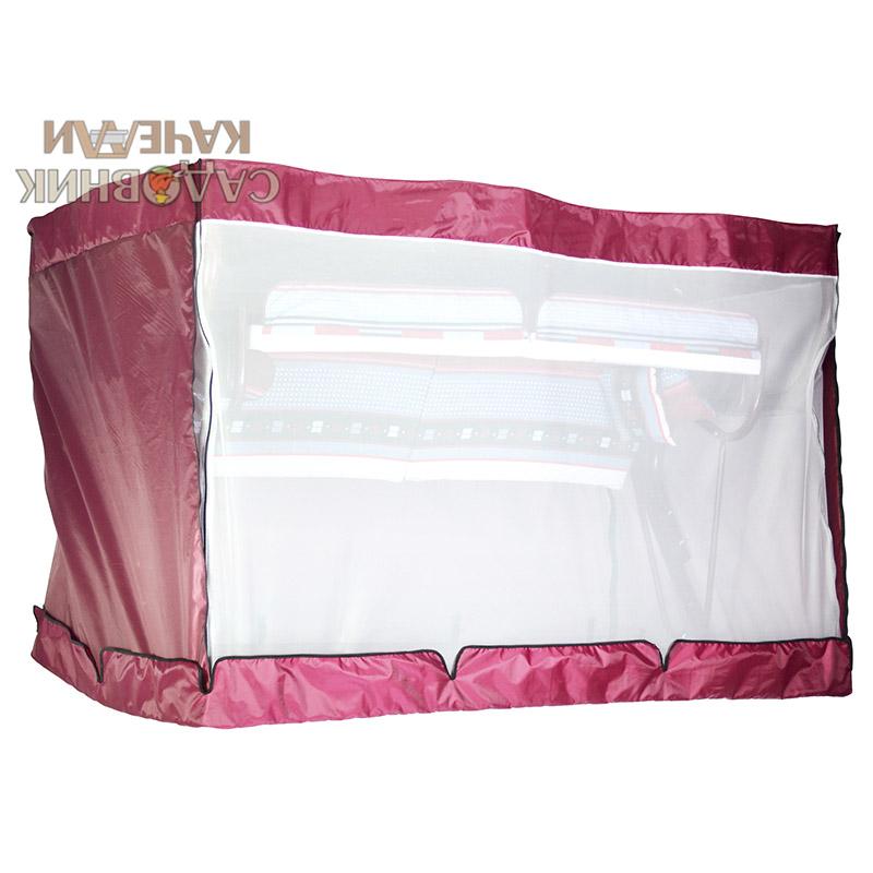 Чехол с москитной сеткой Палермо Премиум бордовый Фото 2