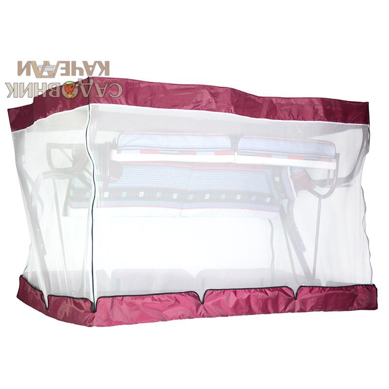 Чехол с москитной сеткой Палермо Премиум бордовый Фото 3