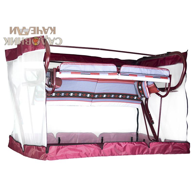 Чехол с москитной сеткой Милан Премиум бордовый Фото 4