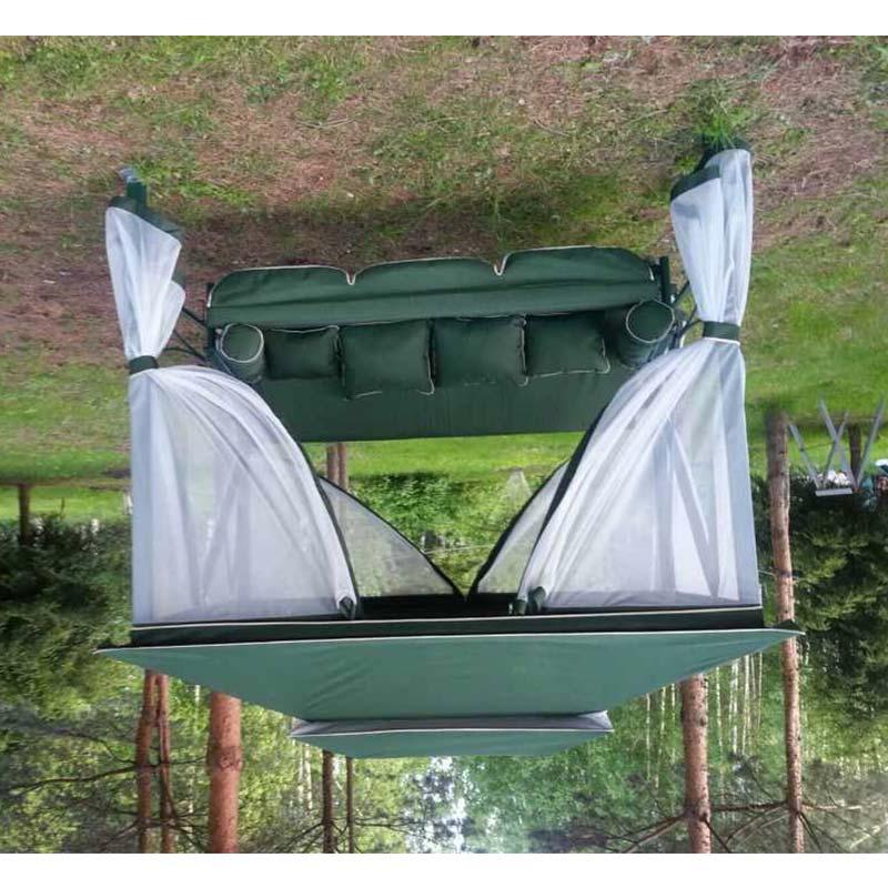Садовые качели-беседка ПАЛЬМИРА зеленые Фото 4