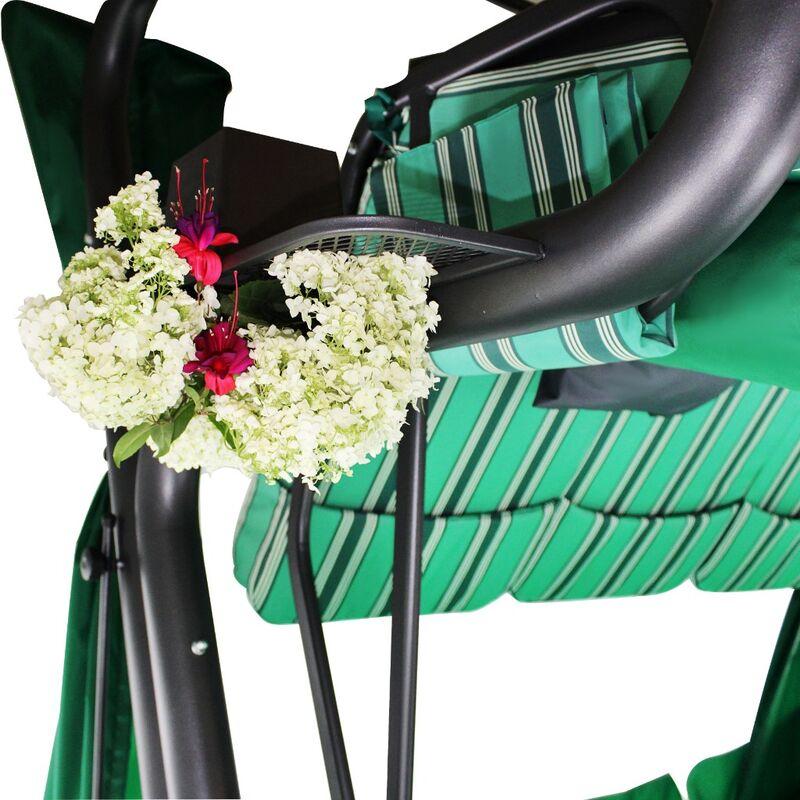 Садовые качели Эдем Люкс 76 зеленые Фото 5