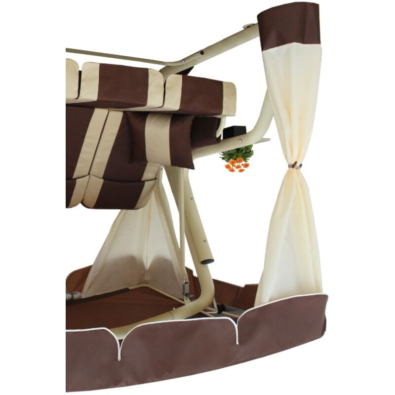 Садовые качели Эдем Люкс 76 шоколад (светлый каркас) Фото 7